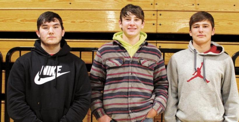 Pictured l-r: TJ Moran, received an honorable mention while Colton Collins, Teagan Gourneau, and Tyson Floyd (not pictured) were named to the 9A All-Conference football team. Collins was also chosen as a running back for the SD All-State team.